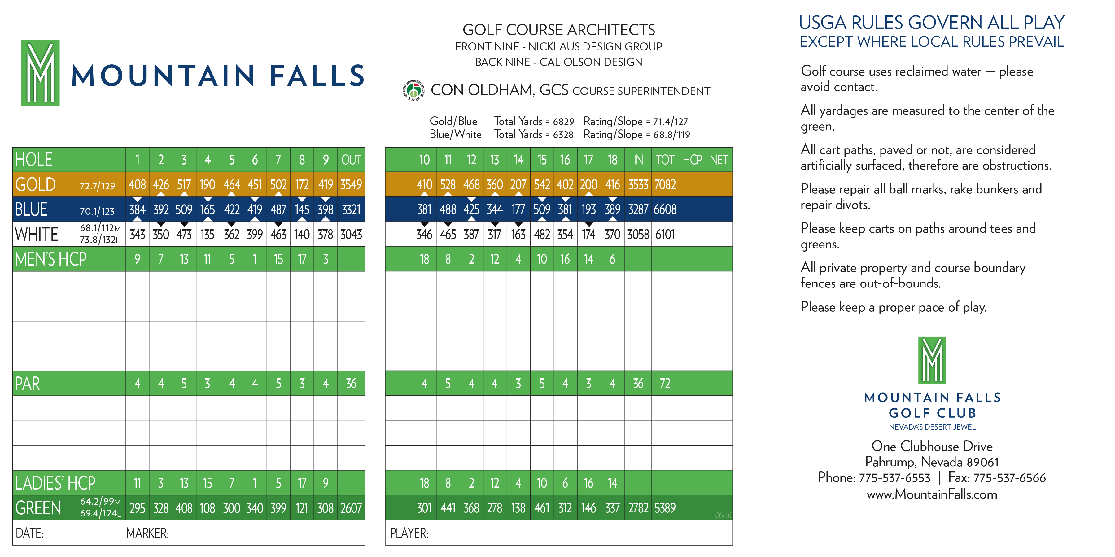 Mountain falls scorecard elite golf management mtn falls scorecard 2 pronofoot35fo Choice Image