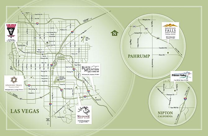 Golf Courses In Las Vegas Map.Elite Golf Course Map Elite Golf Management